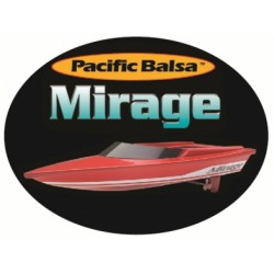 Mirage Boat - Balsa KIT