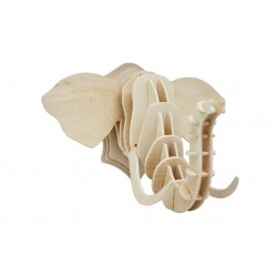 3D Wooden Puzzle - Elephant head